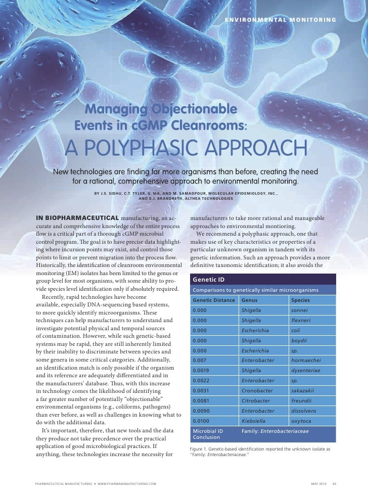 Managing Objectionable Events in cGMP Cleanrooms: A Polyphasic Approach.