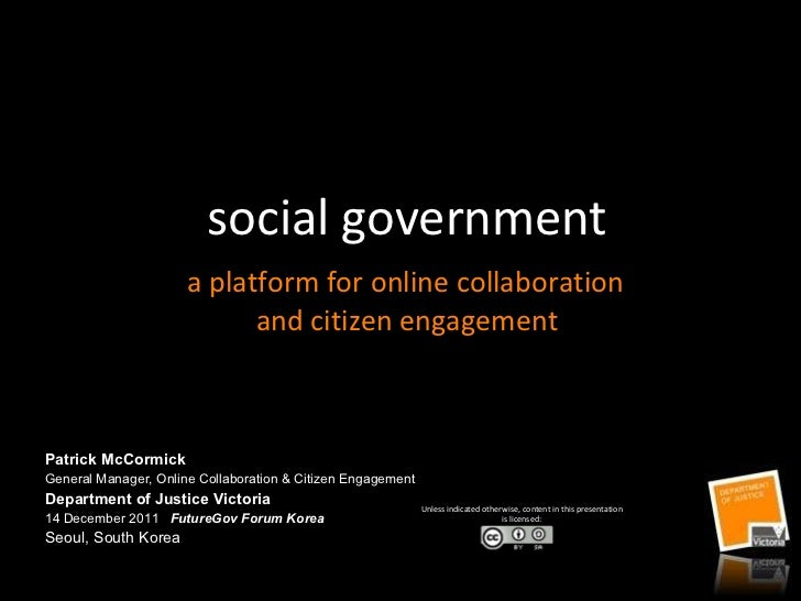 Social government:  a platform for online collaboration