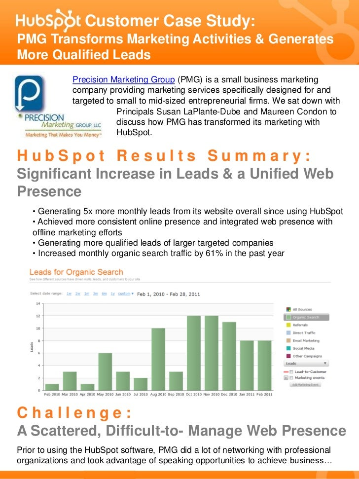 Customer Case Study:PMG Transforms Marketing Activities & GeneratesMore Qualified Leads              Precision Marketing G...