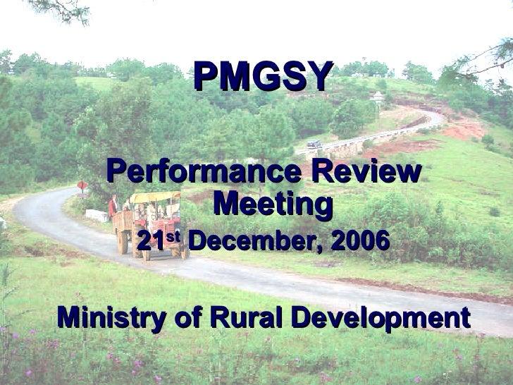 Pmgsy Presentation