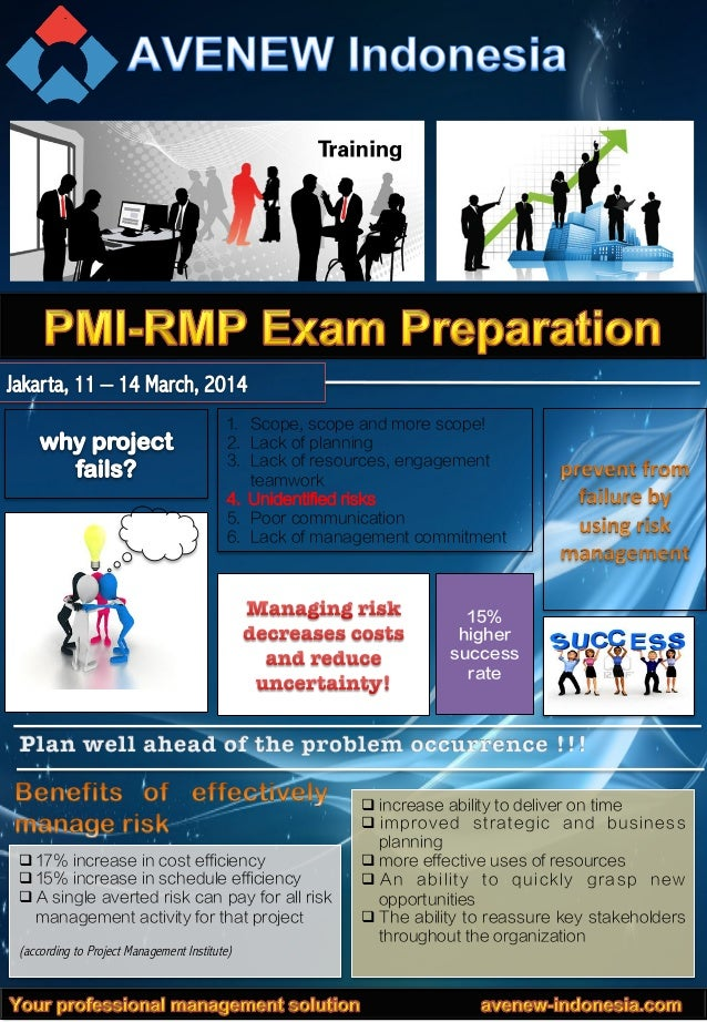 PMI-Risk Management Professional (RMP) Exam Preparation Training, Jakarta 11-14 March 2014