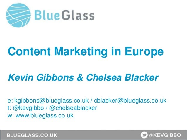 How to Create Outstanding Content Across Europe by Kevin Gibbons and Chelsea Blacker