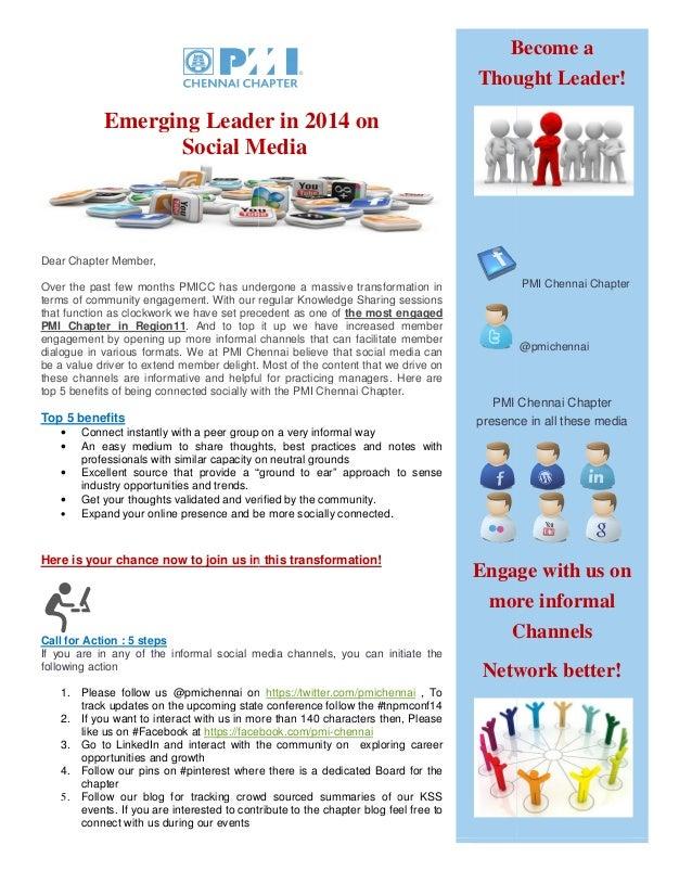 PMI Chennai Chapter on social media