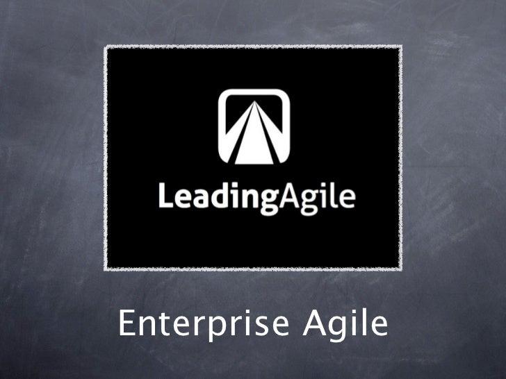 PMI Atlanta Agile LIG - Enterprise Agile