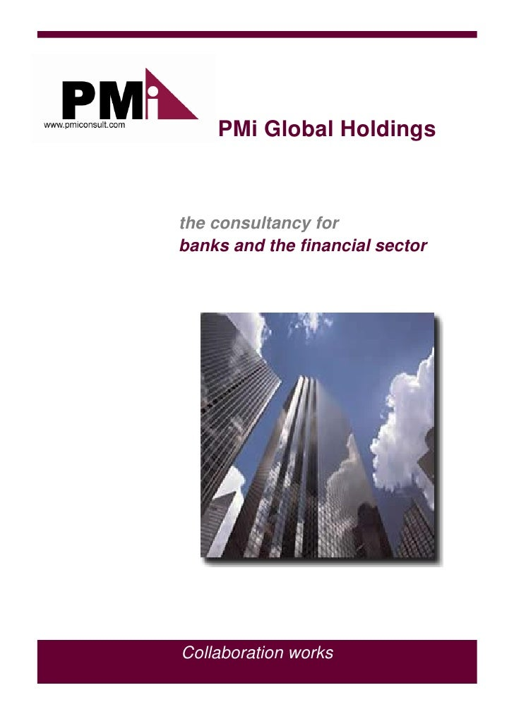 PMi Global Holdings    the consultancy for banks and the financial sector     Collaboration works