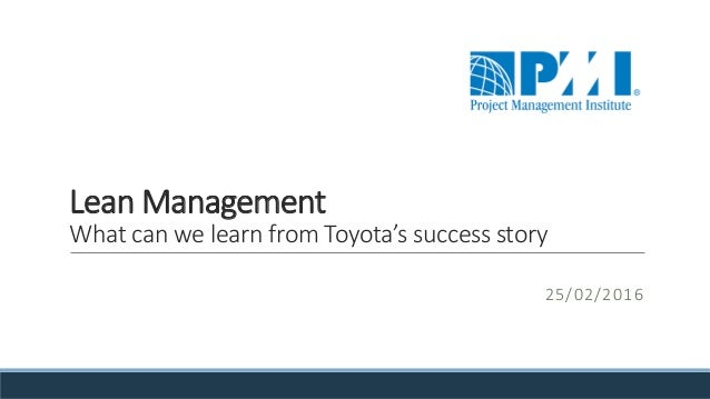 pmi lean management what can we learn from toyota 39 s success story. Black Bedroom Furniture Sets. Home Design Ideas