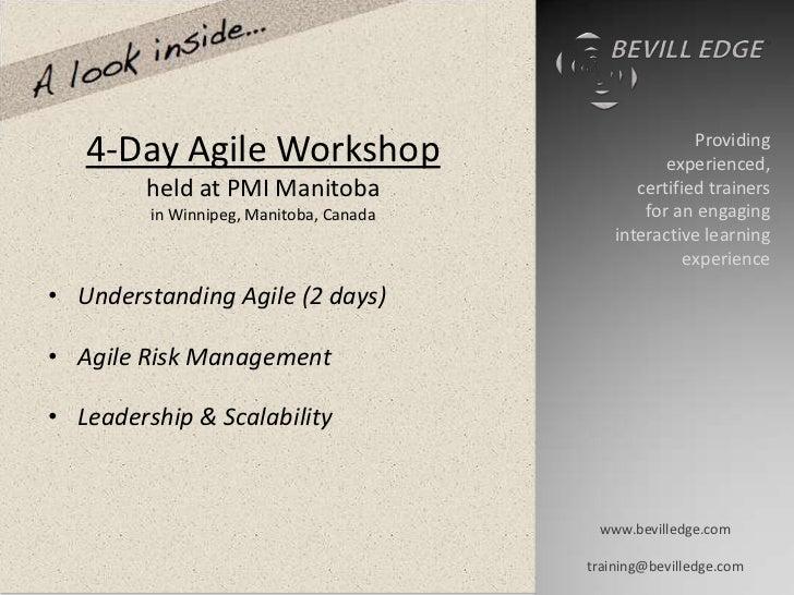Pmi manitoba fall workshop demo