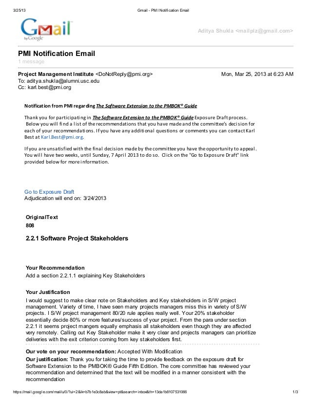 PMI : Software Extension to the PMBOK® Guide (2013)