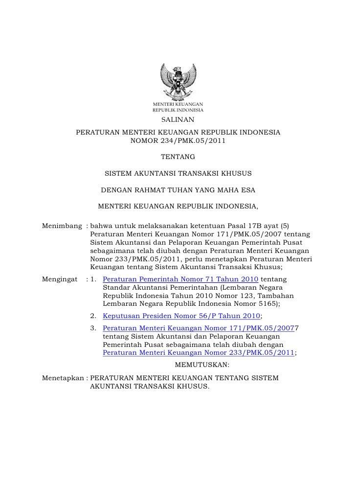 MENTERI KEUANGAN                             REPUBLIK INDONESIA                                SALINAN        PERATURAN ME...