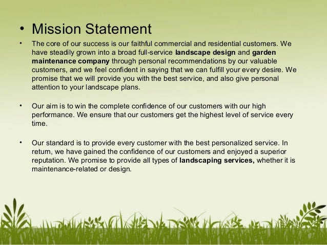 uncompromising personalized service mission statement
