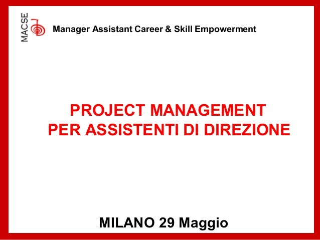 Project Mgmt for Manager Assistants