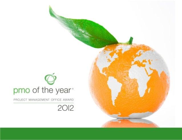 PMO of the Year Award 2012 eBook