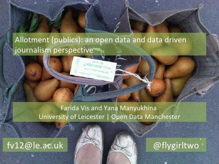 Allotment (publics): an open data and data driven journalism perspective