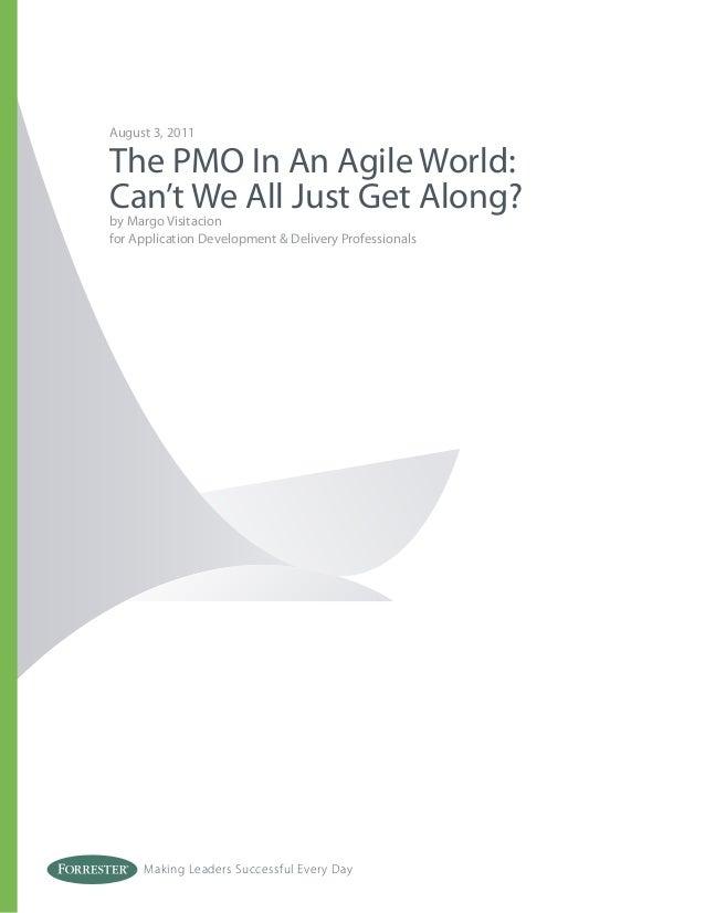 Pmo in an agile world