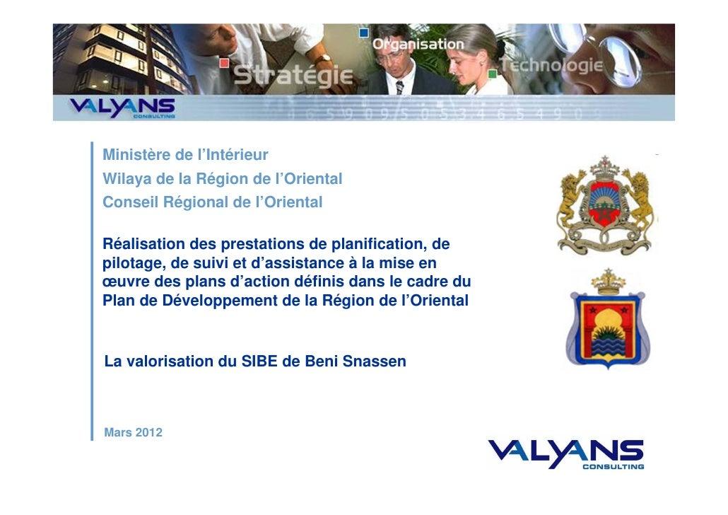 Ministère de l'IntérieurWilaya de la Région de l'OrientalConseil Régional de l'OrientalRéalisation des prestations de plan...