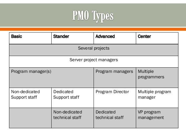 Project Management Office Pmo Types