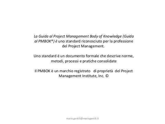 Project Management Professional, Fondamenti
