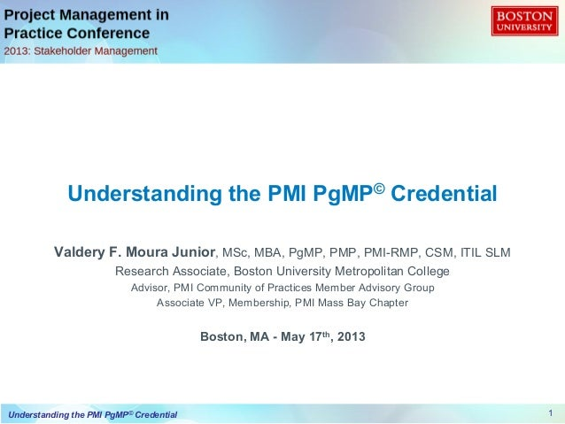 Understanding the PgMP Credential