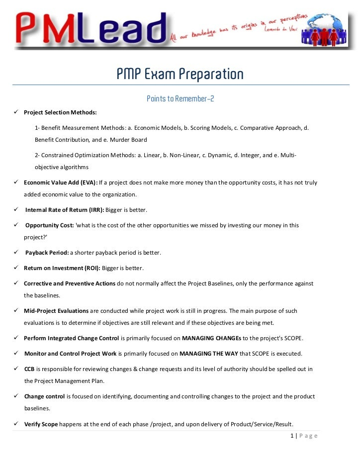 PMP Exam Preparation                                                     Points ...