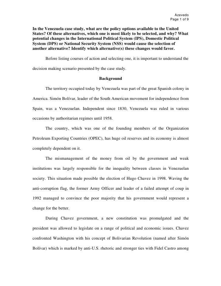 Azevedo                                                                                  Page 1 of 9  In the Venezuela cas...