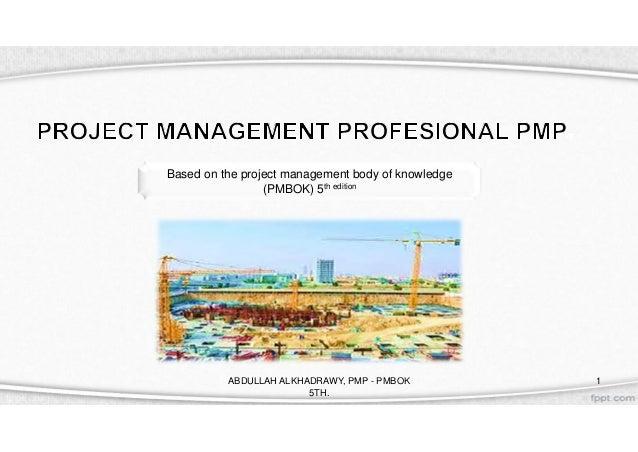 PMP PMbok 5th CH1 - CH2