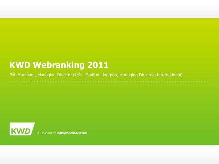 KWD Webranking 2011