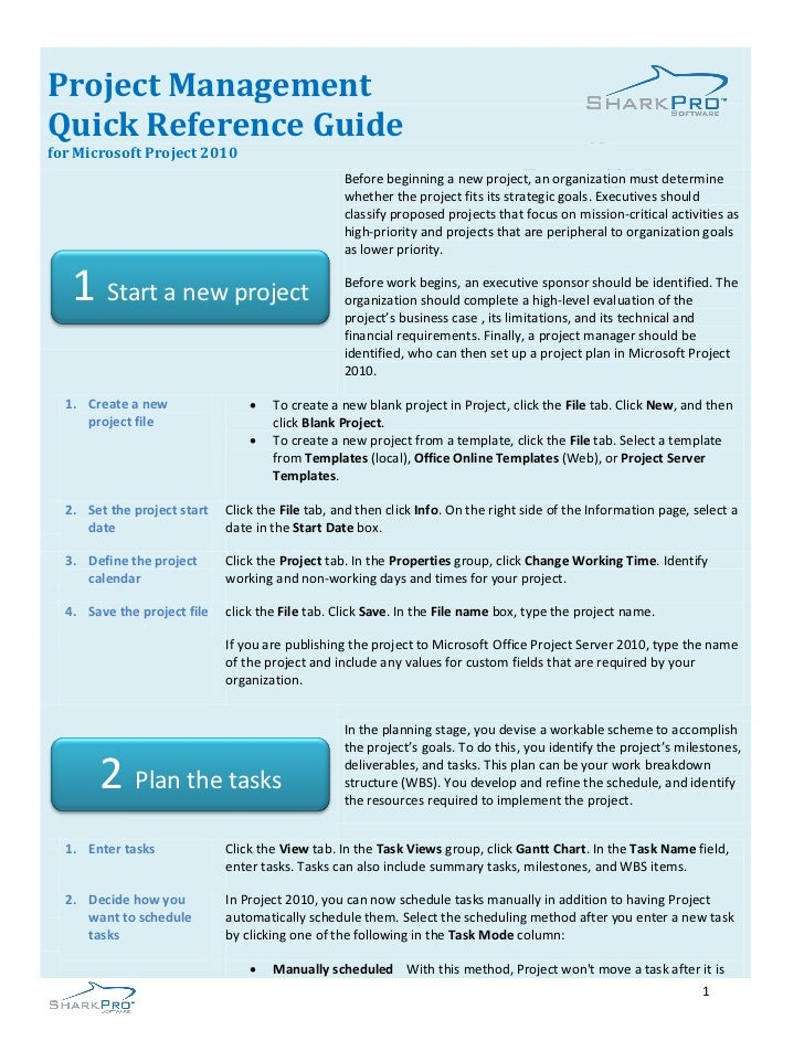 Pm quick reference guide