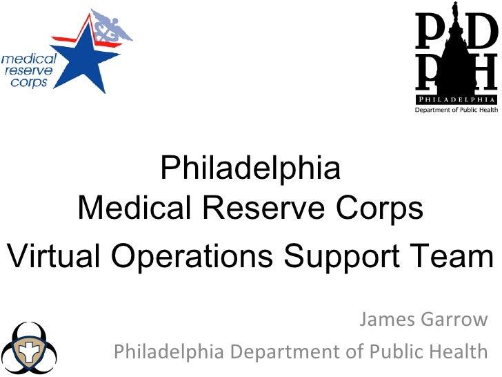 Philadelphia Medical Reserve Corps VOST Introduction