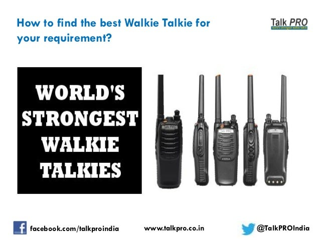 Walkie Talkies in India - A Comparison