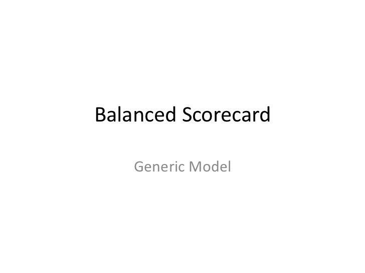 Balanced Scorecard    Generic Model