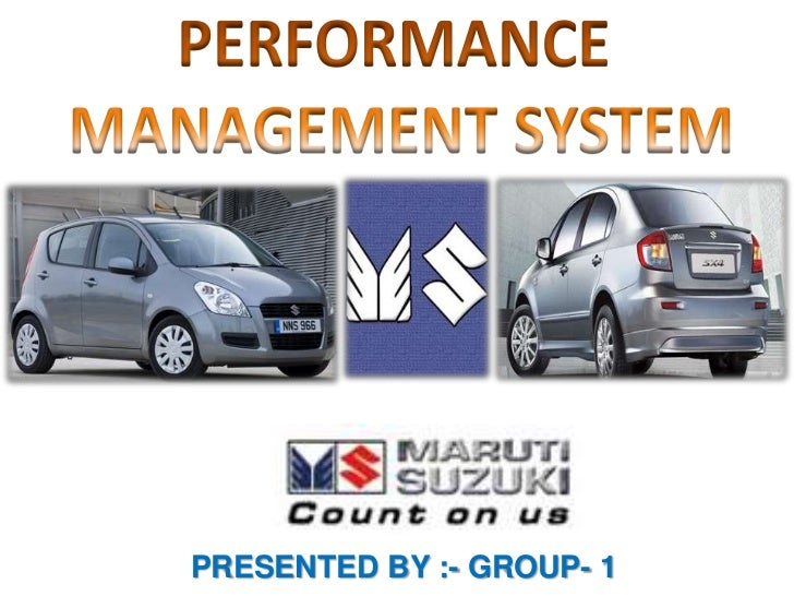 MARUTI SUZUKI- new performance management