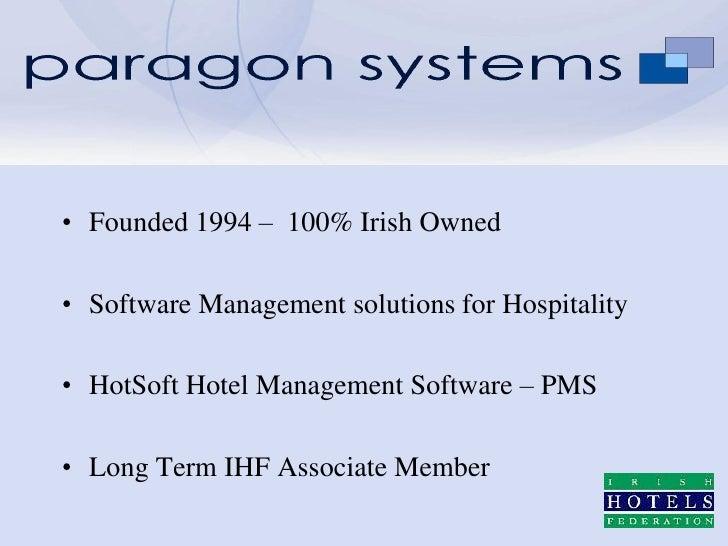 Paragon system presentation during Availpro's seminar