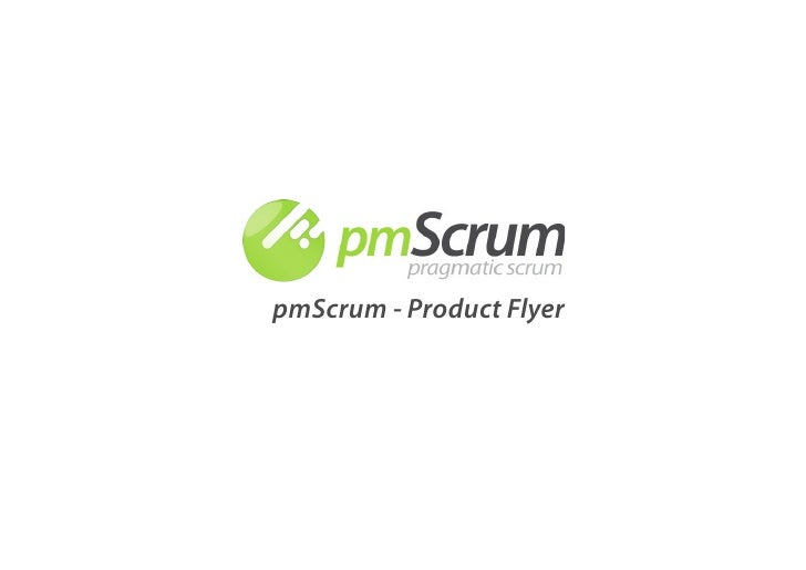 pmScrum - Product Flyer