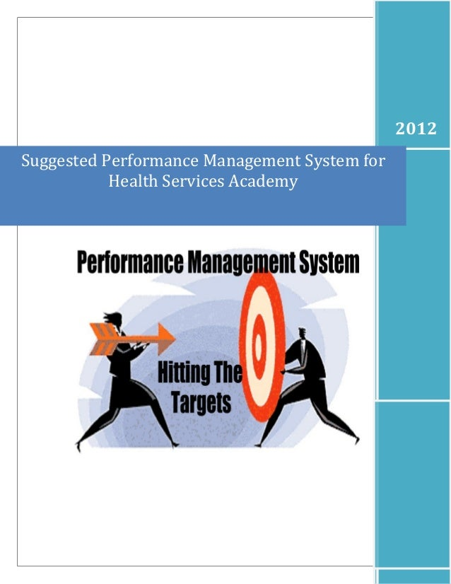 Suggested Performance Management System for Health Services Academy