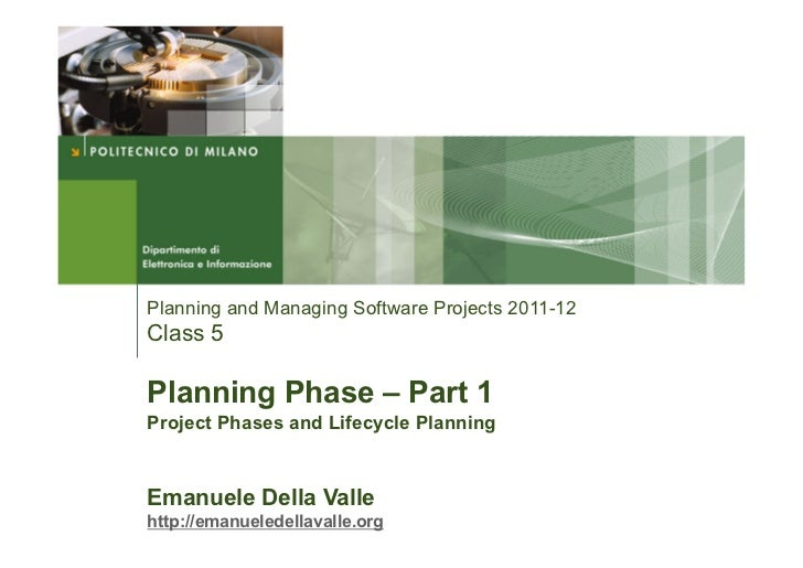 Planning Phase Part I - Project Phases and Lifecycle Planning