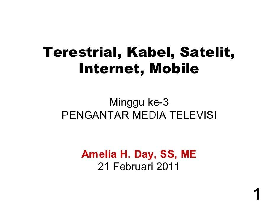 Terestrial Kabel Internet IPTV Mobile - PMT 2011