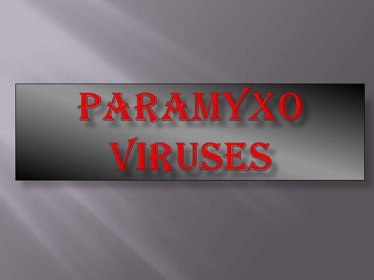 Paramyxoviruses
