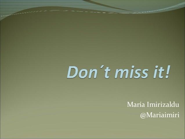 María Imirizaldu @Mariaimiri