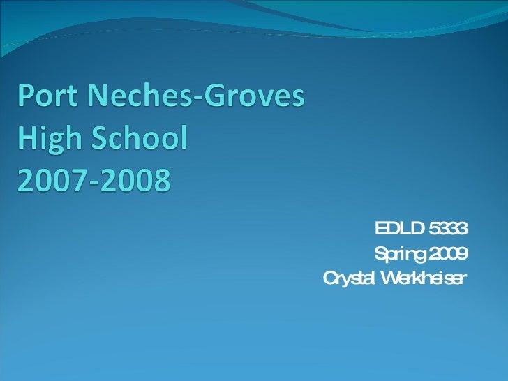 EDLD 5333 Spring 2009 Crystal Werkheiser