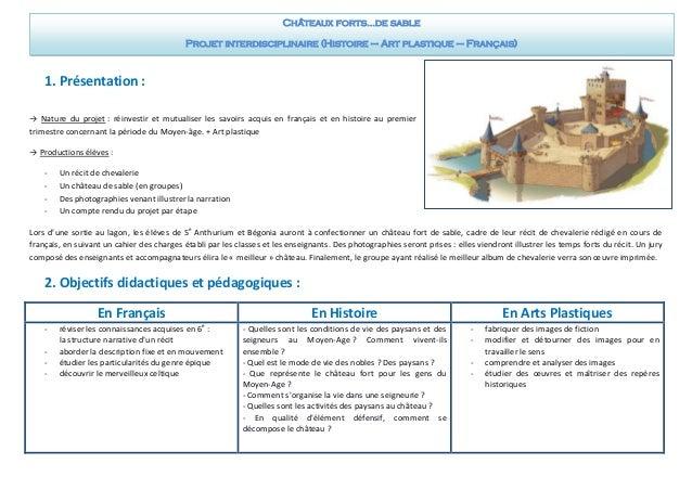 1. Présentation :  → Nature du projet : réinvestir et mutualiser les savoirs acquis en français et en histoire au premier ...