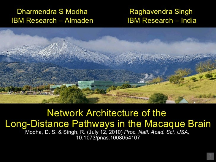 Network Architecture of the  Long-Distance Pathways in the Macaque Brain Modha, D. S. & Singh, R. (July 12, 2010)  Proc. N...