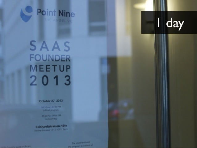 PNC SaaS Founder Meetup 2013