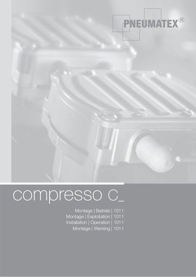 compresso C_ Montage | Betrieb | 1011 Montage | Exploitation | 1011 Installation | Operation | 1011 Montage | Werking | 10...