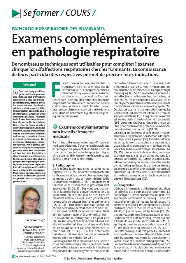 par Céline Falcy*, Yves Millemann**, Renaud Maillard** et Bruno Polack*** * Clinique vétérinaire, 27520 Bourgtheroulde ** ...