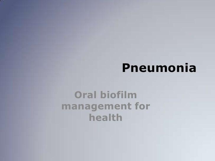 Pneumonia in Long Term Care