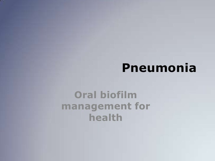 Pneumonia in Long Term Care
