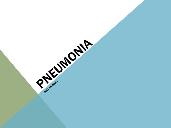 BRIEF OVERVIEWPneumonia is a respiratory disease in which there is an infectionin the lungs. It is often caused by micro-o...