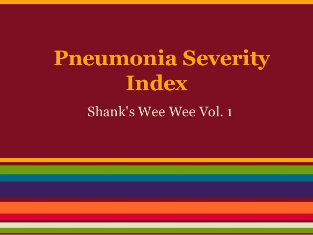 Pneumonia Severity Index