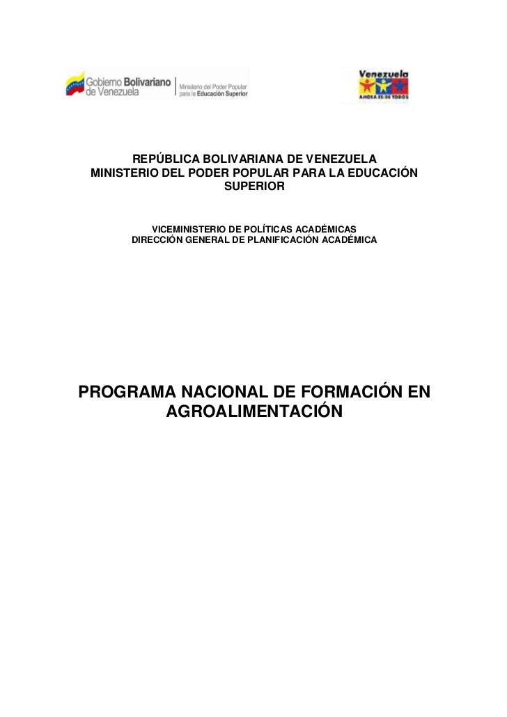 Pnf agroalimentaria