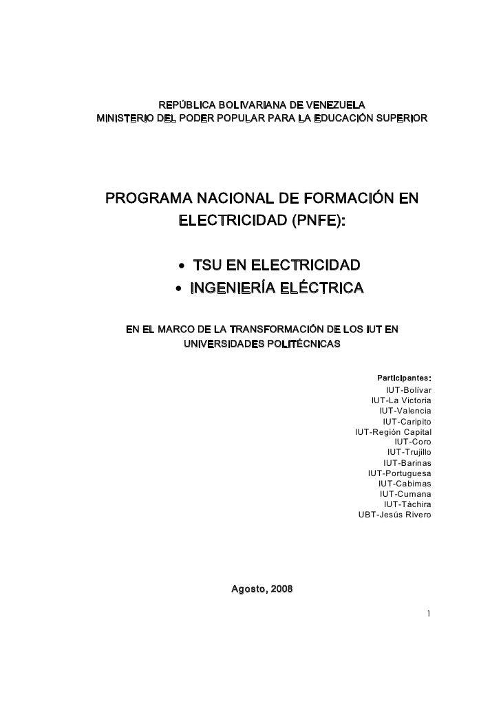 PNF ELECTRICIDAD UPT ARAGUA